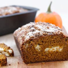 If there's a food out there that's more quintessentially autumnal than this pumpkin cream cheese bread, then we haven't found it yet. We know plenty of folks that wait all year long for September to Pumpkin Cream Cheese Bread, Cream Cheese Desserts, Pumpkin Bread, Pumpkin Spice, Bread Recipes, Baking Recipes, Brunch Recipes, Entree Recipes, Dessert Recipes