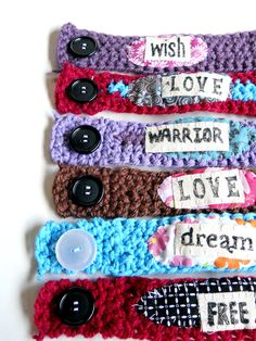 Crochet Bracelet Fundraiser Idea Warrior Affirmation Bracelet Love Tattoo Cover One of a kind