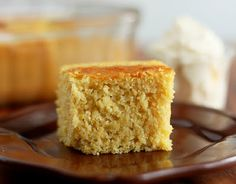 Moist Cornbread (lightened up) from Cooking Classy