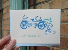 would be great with any stamp of a bike + twine & small drawn(?) cans