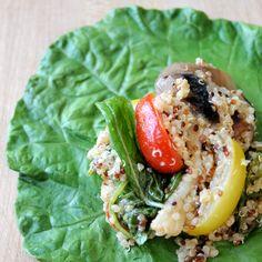 bikini wrap - eggplant quinoa