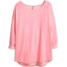 H&M Sweatshirt ($15) ❤ liked on Polyvore featuring tops, hoodies, sweatshirts, pink, h&m, sweat tops, rayon tops, h&m sweatshirt and three quarter sleeve tops