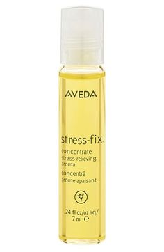 Free shipping and returns on Aveda 'stress-fix™' Concentrate Stress-Relieving Aroma at Nordstrom.com. Reach for the stress-fix™ rollerball whenever life gets stressful. The aroma, clinically proven to relieve feelings of stress, includes essences of lavender, lavandin and clary sage from organic farms and is formulated using the science of Aromaology™ and the power of pure essential oils.<br><br>How to use: Glide rollerball over pulse points and enjoy aroma any time you'd like to relieve ...