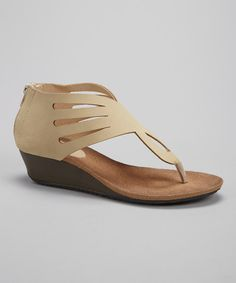 Take+a+look+at+the+Bucco+Beige+Cutout+Hipsta+Wedge+Sandal+on+#zulily+today!