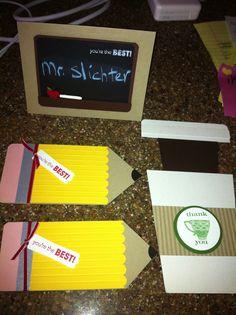 Jill's Card Creations: Teacher cards