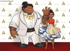 Oscars 2017: Maui and Moana by fra-gai on DeviantArt