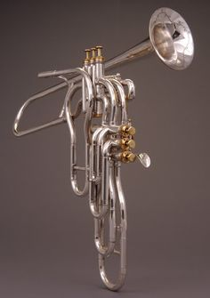 Trumpet with Six Independent Valves by Adolphe Sax c. 1869 | National Music Museum, University of South Dakota