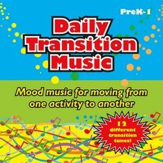 Daily Transition Music by Blair Bielawski-- These music selections can be used to get students on task or to facilitate the change from one activity to another. Play the music to alert children of a transition, allowing them time to prepare both mentally and physically for the next task.