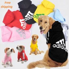Adidog Pet Clothes for Dog_Coat Jacket Clothing For Dog_Free shipping #adidog