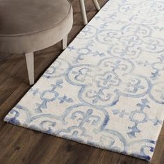Shop for Safavieh Handmade Dip Dye Watercolor Vintage Ivory/ Blue Wool Rug (2'3 x 10'). Get free shipping at Overstock.com - Your Online Home Decor Outlet Store! Get 5% in rewards with Club O!