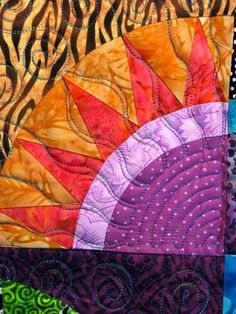Susans New York Beauty Quilt Detail