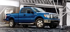 blue f150 blue truck | 2011 Ford F-150 EcoBoost Officially Rated at 16/22 MPG