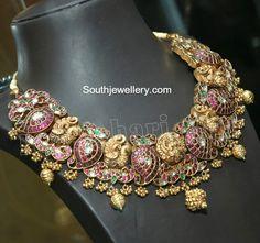 Peacock Mango Nakshi Necklace photo