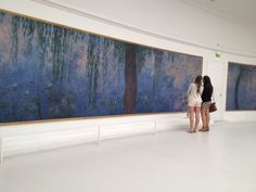 Claude Monet (1840-1926), Water Lilies, Morning: Willows (right side), 1916-26. Musee de l'Orangerie, Paris, France.