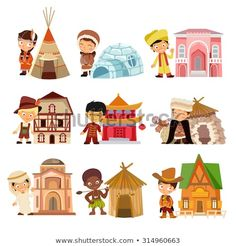 Find People Various Nationalities Their Traditional Houses stock images in HD and millions of other royalty-free stock photos, illustrations and vectors in the Shutterstock collection. Thousands of new, high-quality pictures added every day. Kids Around The World, People Of The World, Around The Worlds, Funny Baby Memes, Funny Babies, Iconic Characters, Cartoon Characters, Preschool Activity Books, Science Models
