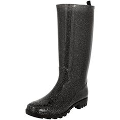 Ladies Tall Glitter Jelly Rain Boot ** Click image for more details. (This is an affiliate link) #Outdoor