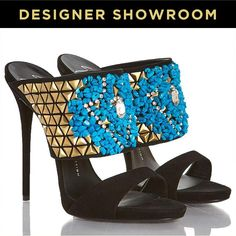 Giuseppe Zanotti Bejeweled Suede Stiletto Sandals