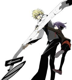 Durarara!!x2 Shizuo and Akane. OMG they are so cute together!! (≧∇≦) not in a relationship way, more like Uh... Well you know ^_^;