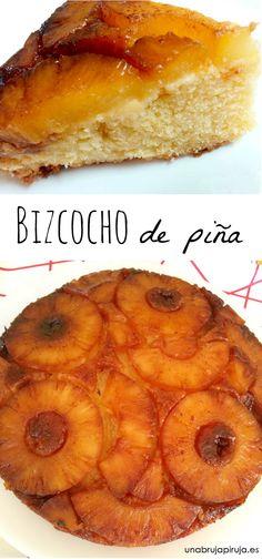 Bizcocho de piña. Pineapple cake