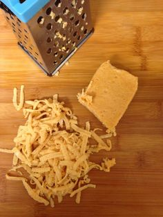 Vegan DIY Cheddar-style cheese, grates and melts just substitute almond, cashew or coconut Mylk for the soy mylk