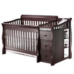 "Sorelle Princeton 4-in-1 Convertible Crib & Changer - Espresso - C International - Babies ""R"" Us <3 it"
