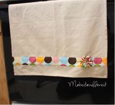 decorative tea towel tutorial