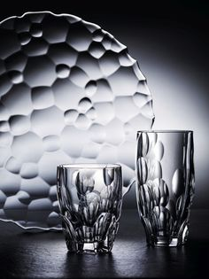 With its spherical convex shapes, SPHERE makes striking refractions and plays with the light. Cut Glass, Candlesticks, My Design, Design Ideas, Shapes, Art, Home Decor, Nice Things, Plays