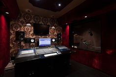 Larrabee Studios, Studio A. Hollywood, CA. I really like the monitor set-up here.