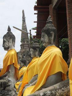 #Buddha in gewaad, een mooi gezicht! #thailand #ayutthaya #asia