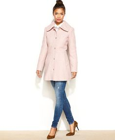 Jessica Simpson Braided A-Line Walker Coat - Juniors Jessica Simpson - Macy's