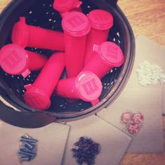 Listening tubes for five senses unit - match the sound to cards of the objects inside.