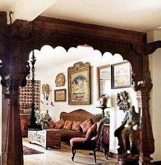 Home Interior Design - H / G 🐰 - Indian Living Rooms Ethnic Home Decor, Indian Home Decor, Moroccan Decor, Indian Crafts, Indian Inspired Decor, Boho Decor, Indian Living Rooms, Living Room Decor Traditional, Traditional House