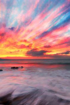 sundxwn: nature sunset paints by Dimitri Koskinas
