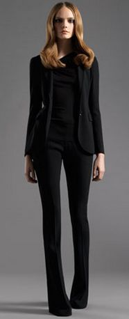 chic black suit- Gucci