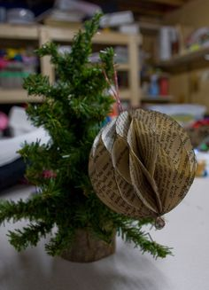 How to.... do something: How to make ornaments out of an old book