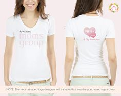 Ask Me About My Moms Group design for t shirts, buttons, stickers & more | Shirt design for Moms Clubs and Playgroups | Style: Pink Ombre. Get a custom moms group logo, business cards, shirt design plus flyers / signs / posters & more Moms Group products at the Oh Hi Penguin! Design Studio Etsy store. Visit www.ohhipenguin.com for more playgroup activities, games & ideas plus a free playgroup newsletter template design for your Moms Club.