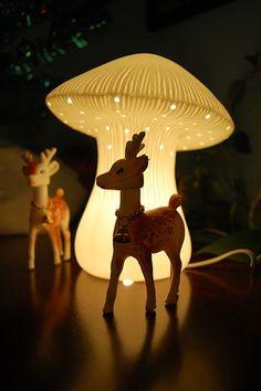 /\ /\ . mushroom lamp