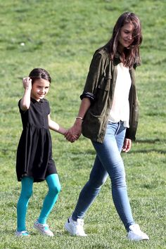 Katie Holmes & Suri Cruise: Friday at The Park
