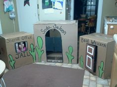 Boxes turned into western theme