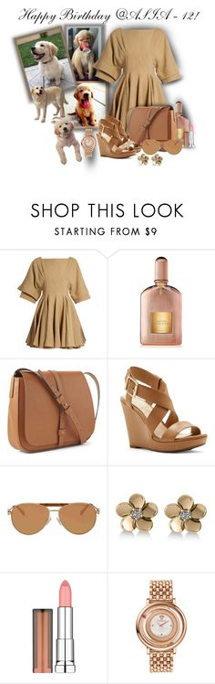 """""""Happy Birthday @asia-12!!!"""" by sarahguo ❤ liked on Polyvore featuring J.W. Anderson, Tom Ford, Gap, Jessica Simpson, Michael Kors, Allurez, Maybelline and Versace"""
