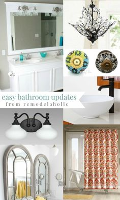 My bathroom could use these updates... 4 Easy DIYs to Make Over Your Bathroom #spon
