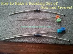 """Awesome PVC pipe Bow and Arrows - made these one year for a craft fair, sold out and had people begging for the """"broken"""" ones that needed restringing! HOURS of fun, literally!"""