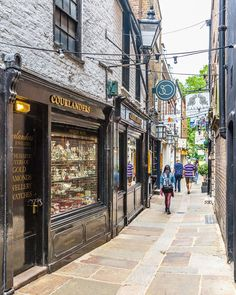 A historic lane in Richmond, London with lots of little shops.    #richmond #london #england