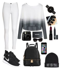 """Untitled #14"" by jamslzr on Polyvore featuring NIKE, I Love Ugly, Chanel, Smashbox, Michael Kors, Vans, women's clothing, women, female and woman"