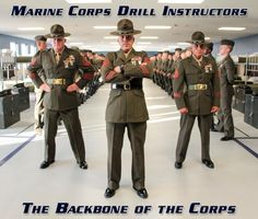 Marine Corps Drill Instructors-The Backbone of the Corps Military Girlfriend, Military Humor, Military Love, Military Spouse, Military Quotes, Marine Corps Humor, Us Marine Corps, Once A Marine, My Marine