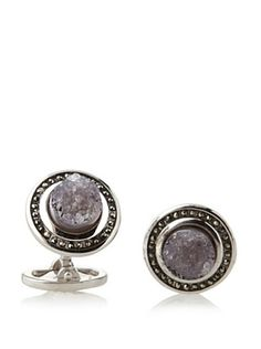 58% OFF Jan Leslie Druzy Agate with Marcasite Sterling Silver Cufflinks