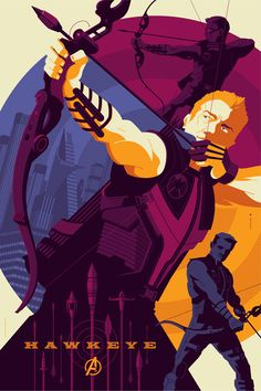 Hawkeye by Tom Whalen, The Avengers print series from Mondo
