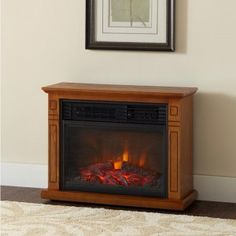 DELLA 1500W Infrared Quartz Deluxe Fireplace Heater Flame Mantel w/ Caster with Remote in Oak! The Fireplace Heater is an infrared heater that supplements your house's heating while cutting your utility costs!