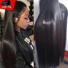 Top Quality Silky Straight Human Hair Wig Virgin Malaysian Full Lace Human Hair Wigs Pre Plucked Lace Front Wigs For Black Woman