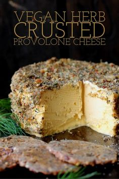 Vegan Herbed crusted Provolone cheese This mild vegan cheese has a smooth, melt-in-your-mouth texture. It's easy to slice and also sooft enough to spread. Vegan Cheese Recipes, Vegan Cheese Sauce, Raw Vegan Recipes, Vegan Foods, Vegan Dishes, Vegan Desserts, Vegetarian Recipes, Vegan Cashew Cheese, Plated Desserts